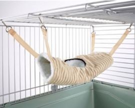 Tunnel Tube Rat Ferret Toy Luxury Cream