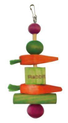 Rabbit Wood Tumble Toy