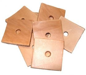 Pack of 10  Leather Squares Toy Making Parts 2
