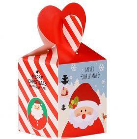 Cube Forager Box Santa Candy Stripe