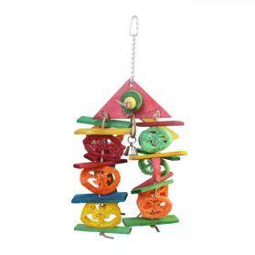 House Of Fun Loofah Pet Toy