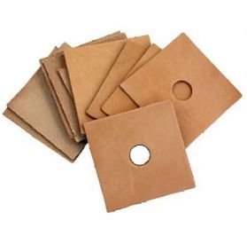 Pack of 10 Large Leather Squares - Parrot Toy Making Parts 1.5
