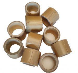 Natural Bamboo Circles Pack 10