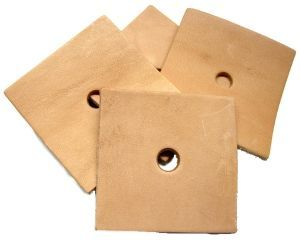 Pack of 10  Leather Squares - Toy Making Parts 3