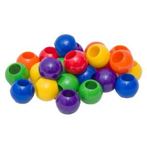 Plastic Beads Large Pack 24 - Toy Making Part