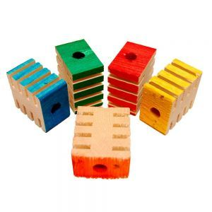Coloured Chunky Groovy Blocks - Chewable Toy Parts - Pack 12