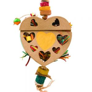 Heart Natural Foraging Box Large Chew Toy