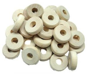 Natural Wood Chewers Discs - Toy Making Part - Pack 30