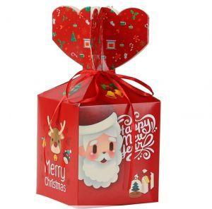 Cube Treat Forager Box Santa RED
