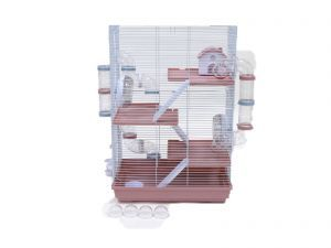 LittleZoo Harriet Hamster, Mouse, Gerbil Cage Pink