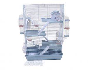 LittleZoo Harriet Hamster, Mouse, Gerbil Cage Blue