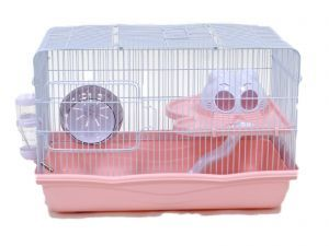 LittleZoo Harry Pink Dwarf Hamster, Mouse, Gerbil Cage
