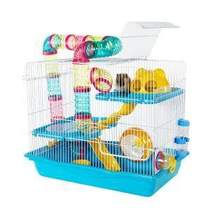 LittleZoo Harvey Explorer 3 Blue Hamster, Mouse, Gerbil Cage