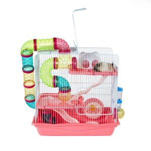 LittleZoo Henry Explorer 3 Pink Hamster, Mouse, Gerbil Cage