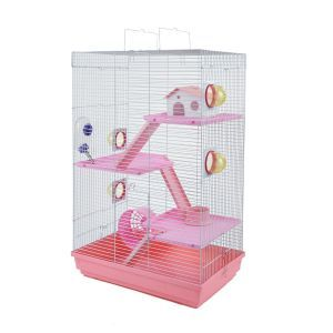 LittleZoo Holly Pink Hamster, Mouse, Gerbil Cage