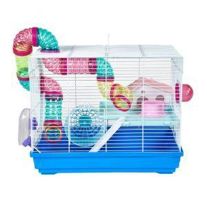 LittleZoo Hugo Blue Dwarf Hamster, Mouse, Gerbil Cage