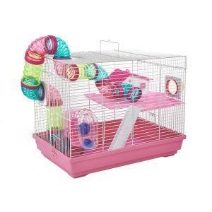 LittleZoo Hugo Pink Dwarf Hamster, Mouse, Gerbil Cage