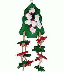 Christmas Tree Wood Pet Toy