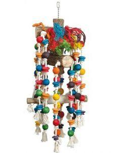 Scarletts Mega Toy - Large Wood & Rope Toy